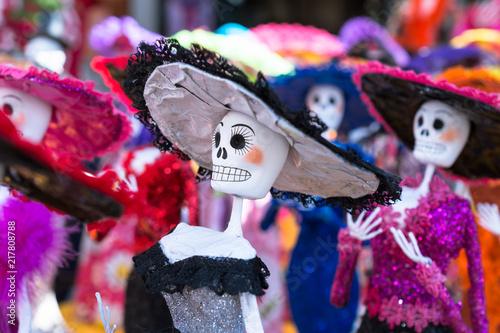 La Elegancia De Las Catrinas El Día De Muertos En México Stock