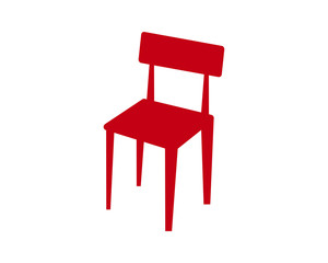 red chair silhouette furniture furnishing household interior exterior home image vector icon logo
