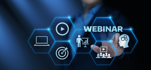 Webinar E-learning Training Business Internet Technology Concept
