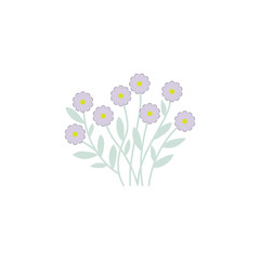 wildflowers. Element of flower for mobile concept and web apps. Colored wildflowers can be used for web and mobile