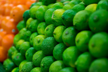 Limes at a market