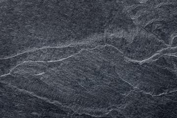 Dark grey black slate stone background or texture.
