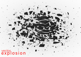 Abstract explosion of black.