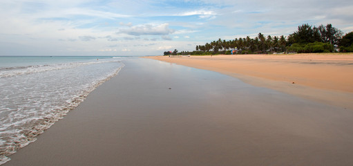 Swirling sand patterns on Nilaveli Beach in Trincomalee Sri Lanka Asia