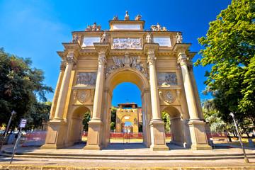 Piazza della Liberta square and Triumphal Arch of the Lorraine in Florence