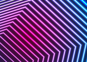 Blue ultraviolet neon laser beam lines abstract background