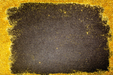 Copy space on gold glitter sparkling luxury background
