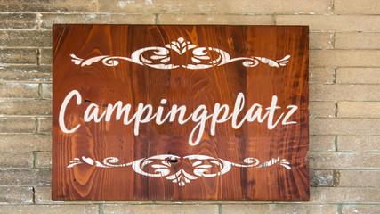 Schild 344 - Campingplatz