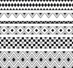 Vector illustration tribal ethnic seamless