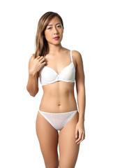 woman white bikini