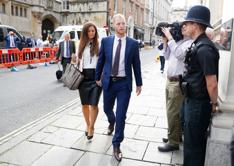England cricket player Ben Stokes and his wife Clare Ratcliffe arrive at Bristol Crown Court in Bristol
