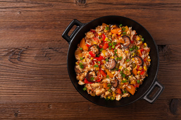 Traditional jambalaya.