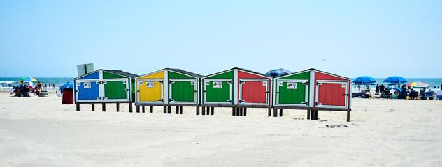 Colorful Beach lockers in Wildwood NJ