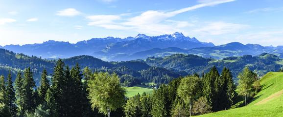 Wall Mural - Panorama im Appenzeller Land in der Ostschweiz