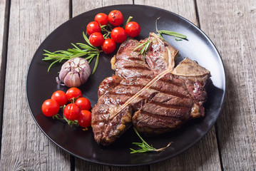 Grilled porterhouse beef steak