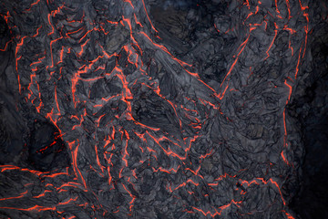 Lava flows on the outskirts of Pahoa