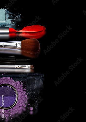 Beauty makeup and cosmetics fashion collection web banners cover flyers or brochure A4 concept of the