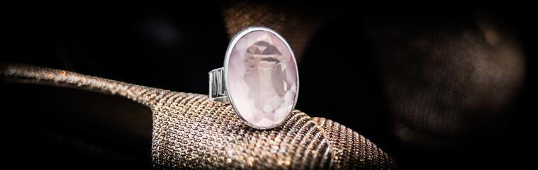 Ring Silber Bergkristall facettiert