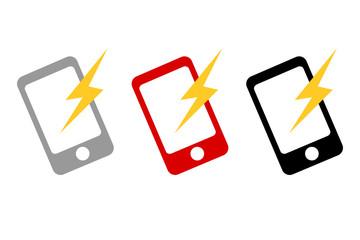 スマホ通知イメージアイコン。スマートフォンWEBデザイン、アプリUIイラスト