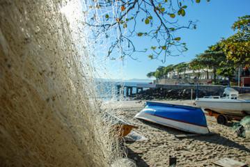 Fishing net, Copacabana beach