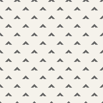 Seamless pattern with arrows motif. Minimalist abstract background.