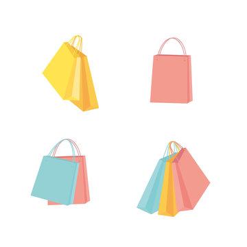 Colorful shopping bag illustration