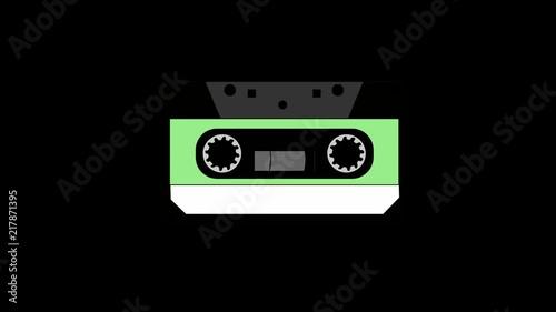 vintage retro animated cassette tape art illustrattion