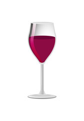 Glass of Elite Red Wine Classical Alcohol Drink