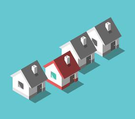 Unique house, home concept