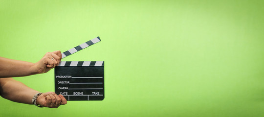 film production, Clapper , Casting, chroma key ,  director ,