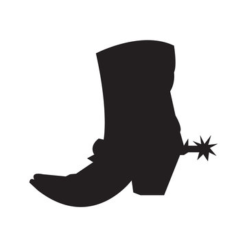 Cowboy boot silhouette