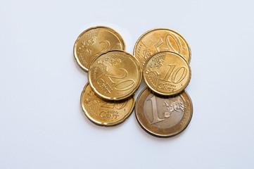 Euro coins cents ten twenty fifty one Euro