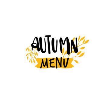 Autumn menu badge isolated design label season
