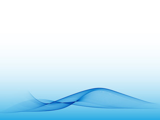 Abstract blue wave on a light background. Design element