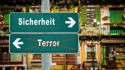 Schild 350 - Terrorsicherheit