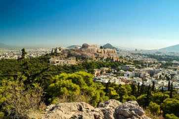 Fototapete - acropolis parthenon caryatids landscape athesn greece