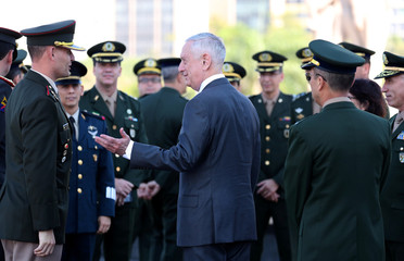 U.S. Secretary of Defence James Mattis visits the Monument to the Dead of World War II in Rio de Janeiro