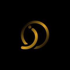 leter i gold logo design