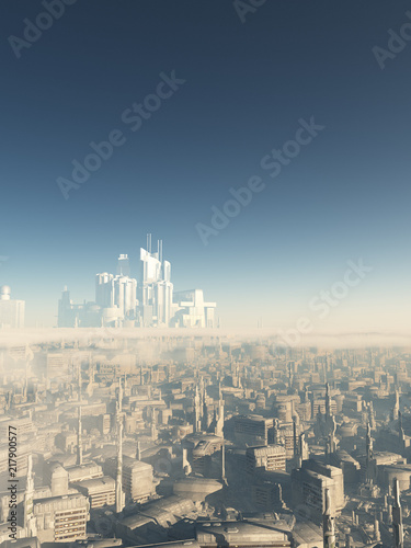 """Future City Megastructure - science fiction illustration"" Stock photo and royalty-free images on Fotolia.com - Pic 217900577"