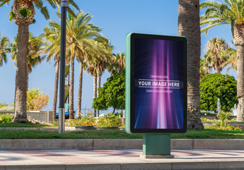 Outdoor Billboard Advertisement Mockup