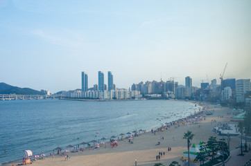Busan summer beach