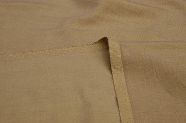 Cotton fabric of light brown color