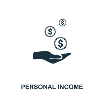 Personal Income icon. Line style icon design from personal finance icon collection. UI. Pictogram of personal income icon. Ready to use in web design, apps, software, print.