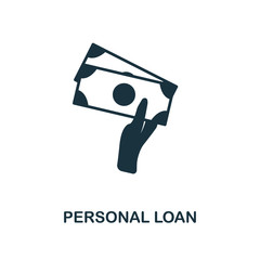 Personal Loan icon. Line style icon design from personal finance icon collection. UI. Pictogram of personal loan icon. Ready to use in web design, apps, software, print.
