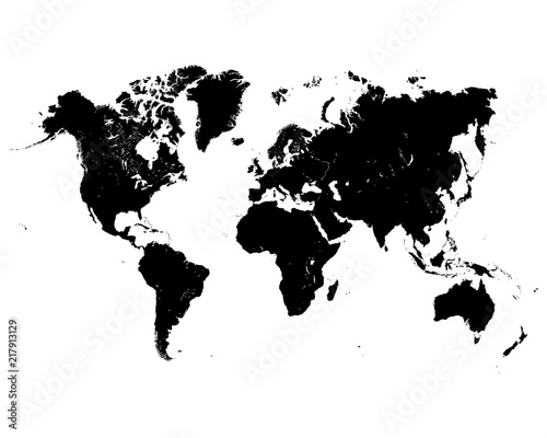 Vector illustration of black world map on a white background stock vector illustration of black world map on a white background gumiabroncs Image collections