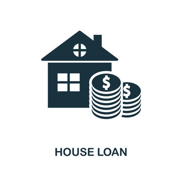 House Loan icon. Line style icon design from personal finance icon collection. UI. Pictogram of house loan icon. Ready to use in web design, apps, software, print.