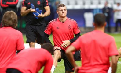 UEFA Super Cup - Real Madrid Training