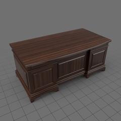 Classic wood desk