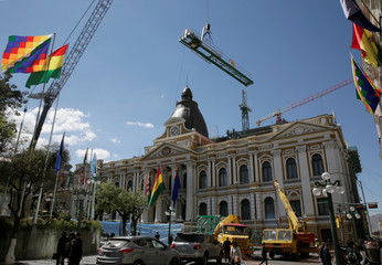 Bolivia's National Congress building is seen in La Paz
