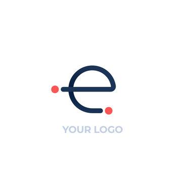 vector logo, E letter design